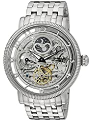 Stuhrling Original Men's 8411.33112 Symphony Symphony DT Analog Display Automatic Self Wind Dual Time Silver Watch