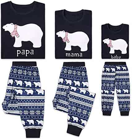 6f66790420 Gsha Cotton Pajama Set Bear Print Matching Set Family Christmas Holiday Pj  Pajamas