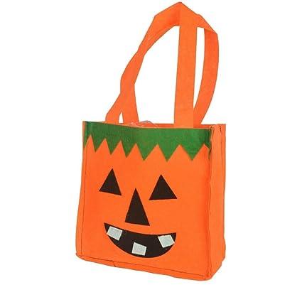 23dacb5df BESTOYARD 4pcs Halloween Candies Goody Bags Tela no Tejida Portable Cartoon  Gift Bags Bolsas de Asas para niños (Calabaza y Fantasma): Amazon.es: Hogar