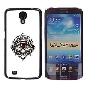 TopCaseStore / la caja del caucho duro de la cubierta de protección de la piel - Detailed Eye Illustration - Samsung Galaxy Mega 6.3 I9200 SGH-i527