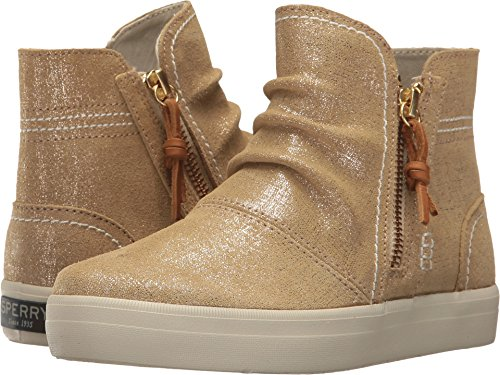 Sperry Girls' Crest Zone Ankle Boot, Gold/Metallic, 2