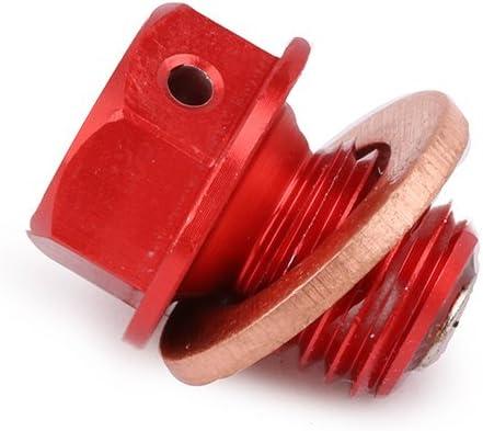 JFG RACING M12 x 1.5 ATV Tapón magnético de drenaje de aceite ...