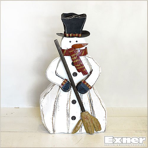 【Exner】スノーマンのオブジェ、B(木製)【ガーデニンググッズ】 B00OT4KXA0