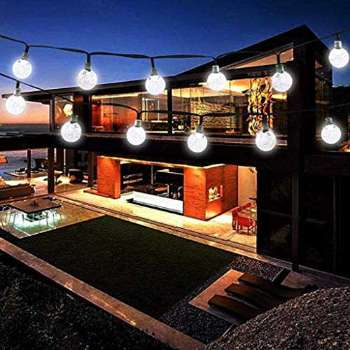 Sodoop 2 Pack Globe Solar Lights String, 6.5 Meters 30 LED Outdoor Crystal Ball Christmas Decoration Light Waterproof Solar Patio Lights Decorative for Home Landscape, Lawn, Garden, Wedding, Party