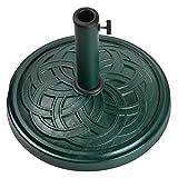 19″ Clodagh Celtic Knot Forest Green Envirostone Outdoor Patio Umbrella Base Review
