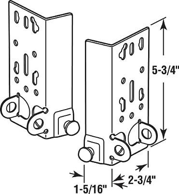 Bottom Lifting Brackets, Fits 7/16 in. Diam. Garage Door Roller Stems, Stamped Steel Construction, Galvanized Finish, 1 LH & 1 RH, (1 Set)