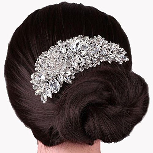 Cyber Monday GreatFun Boutique Bridal Wedding Flower Hair Comb Hair Pins Bridal Accessories