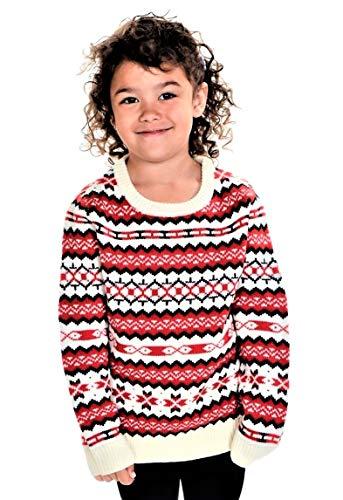 RWB Children 's Holiday Fair Isle Nordic Christmas Sweater White-Red 3 Years 98
