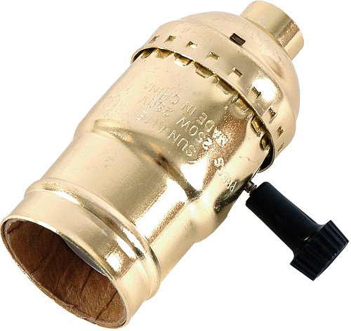 GE 3-Way Lamp Socket, Gold - Socket Lamp
