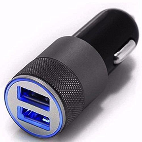 Weiyun Auto Universal Twin Port USB Charging Socket Car Charger Adapter plug (Black & Amp ; Decker Inverter)