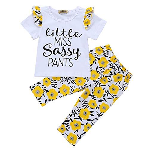3Pcs Newborn Baby Girls Boys Romper Sunflowers Print Outfit Set Boys Girls Long Sleeve Bodysuit Clothes Set (White Sunflower, 9-12 Months)