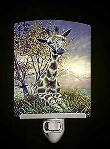 Baby Giraffe Decorative Porcelain Tile Night
