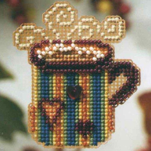 Hot Stuff Beaded Counted Cross Stitch Ornament Kit Mill Hill 2008 Autumn Harvest -