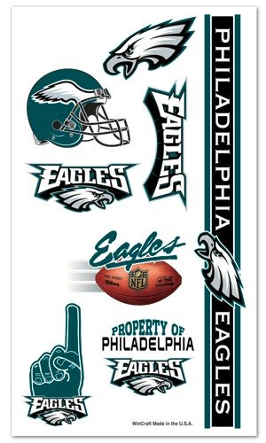 Philadelphia Eagles NFL Temporary Tattoos (7 Tattoos)