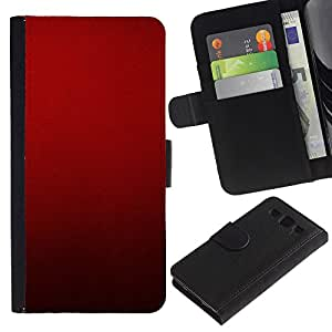 iKiki Tech / Cartera Funda Carcasa - Blood Deep Red Crimson Light - Samsung Galaxy S3 I9300