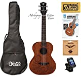 Luna Mahogany Series Tattoo Tenor Ukulele w/ Gigbag,Tuner,Strings,Book & PC