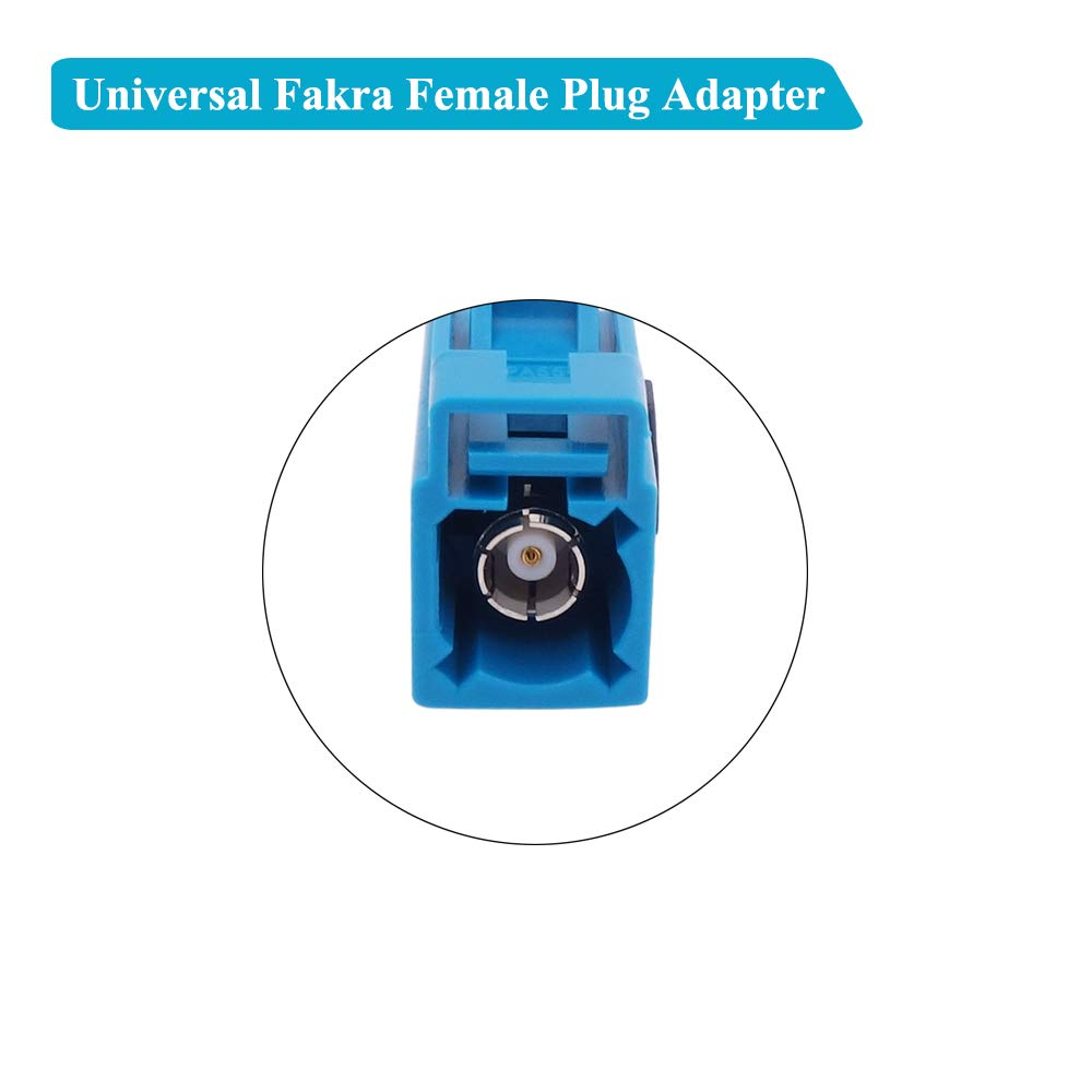 Fancasee Universal Auto Car AM FM Radio Antenna Adapter Cable Female to Fakra Female Jack Socket Plug Connector Coax Coaxial Cable Cord for Vehicle Stereo Audio Radio Head Unit Media Player Receiver