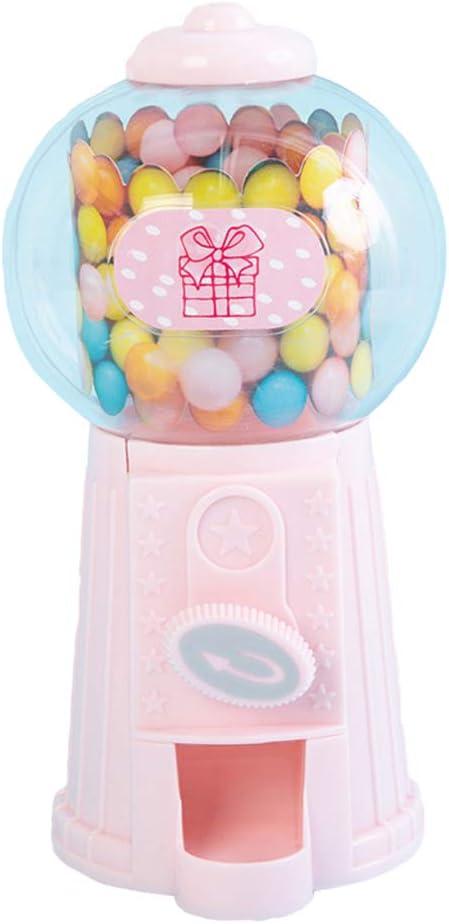 Mini Máquina Expendedora de Dispensador de Dulces Divertidos Premios para Juegos - Rosado