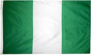 product image for Annin Flagmakers Model 196375 Nigeria Flag 3x5 ft. Nylon SolarGuard Nyl-Glo 100% Made in USA to Official United Nations Design Specifications.