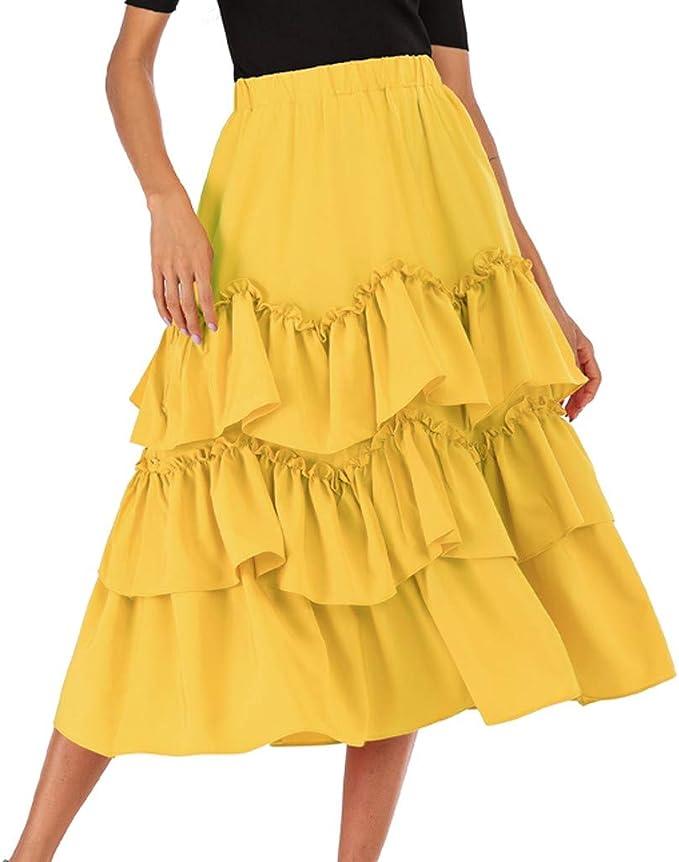 Qijinlook 💖 Faldas largas Mujer Fiesta Elegante💖 Falda Plisada ...