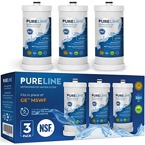 Frigidaire WF1CB Water Filter Replacement. Compatible Frigidaire Models: WF1CB, NGRG 2000, WFCB, RG-100.- High End Generic Filter with Advanced Carbon Block Filter-PURELINE (3 Pack)