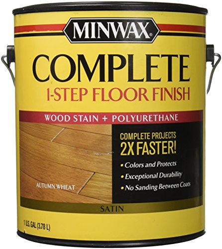 Minwax 672010000 1G Satin Autumn Wheat Complete 1-Step Floor Finish (Floor Building 1)