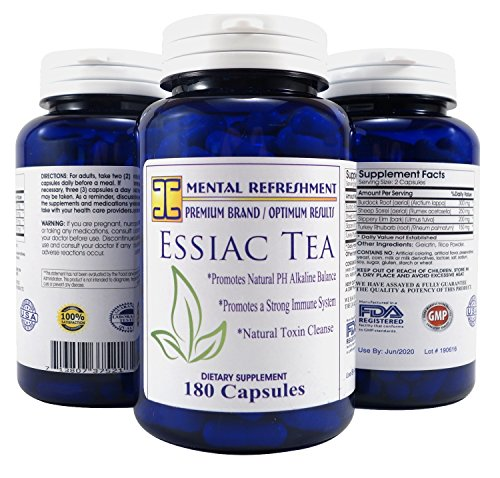 Mental Refreshment Essiac capsules Bottle product image
