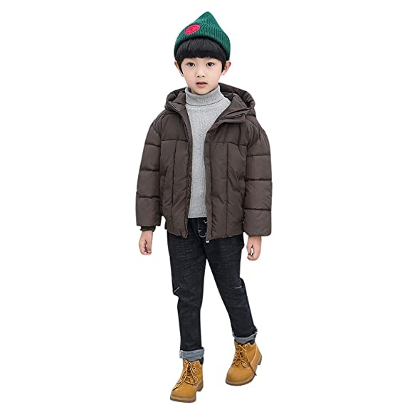 Amazon.com: Huangou❤ Lovely Kids Coat Boys Girls Thick Outerwear Warm Zip Coat Padded Winter Jacket Clothes for 3-7Years Baby Kid: Sports & Outdoors