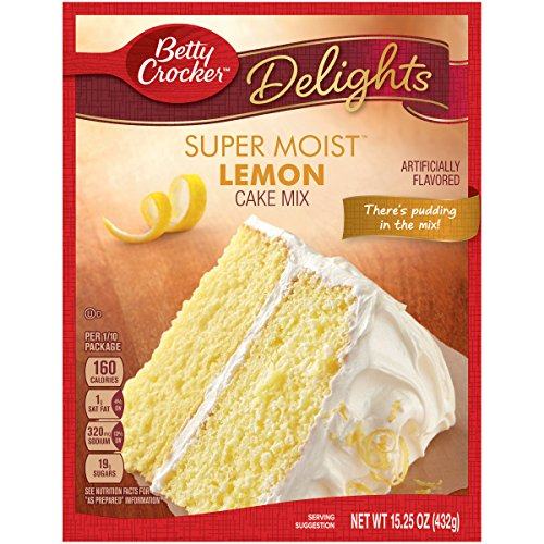 Betty Crocker Baking Mix, Super Moist Cake Mix, Lemon, 15.25 Oz Box ()