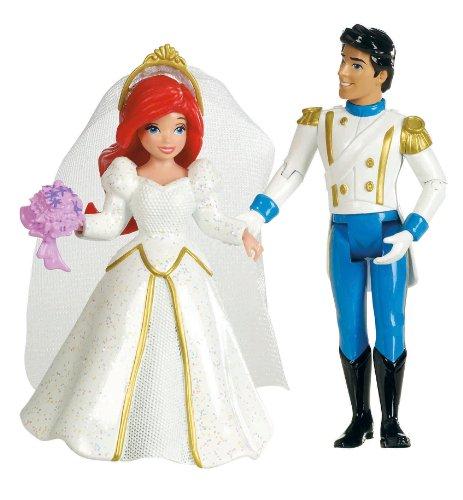 Disney Princess Fairytale Wedding Ariel and Prince Eric Doll Set (Mattel Eric And Ariel)