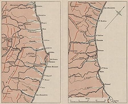 ITALY:Adriatic Coast.Ancona Rimini Pescara.WW2 ROYAL NAVY ...