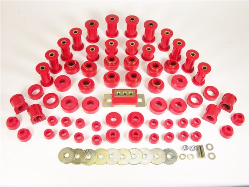 Prothane 1-2009 Red Total Kit with Transmission Mount for YJ by Prothane (Image #1)