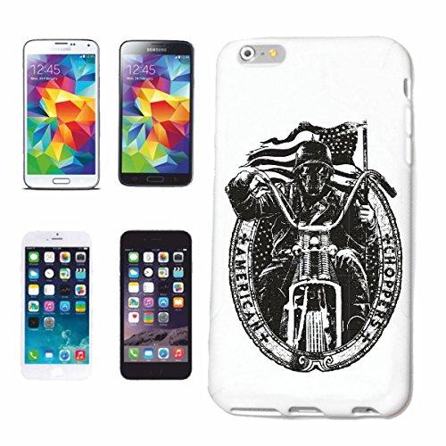 caja del teléfono iPhone 6S American Chopper EE.UU. MOTORISTA CAMISETA DE LA MOTOCICLETA Motocicleta del cráneo gótico club de la motocicleta BICICLETA RUTA 66 Caso duro de la cubierta Teléfono Cubi