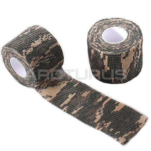 Arcturus Camo Gun Rifle Fabric Wrap - Extra Long 36 ft Roll - Camouflage Multi Use Reusable Fabric Wrap - ACU