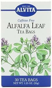 Alvita Tea Bags, Alfalfa Leaf, Caffeine Free, 30 tea bags [1.25 oz (35 g)] (Pack of 3)