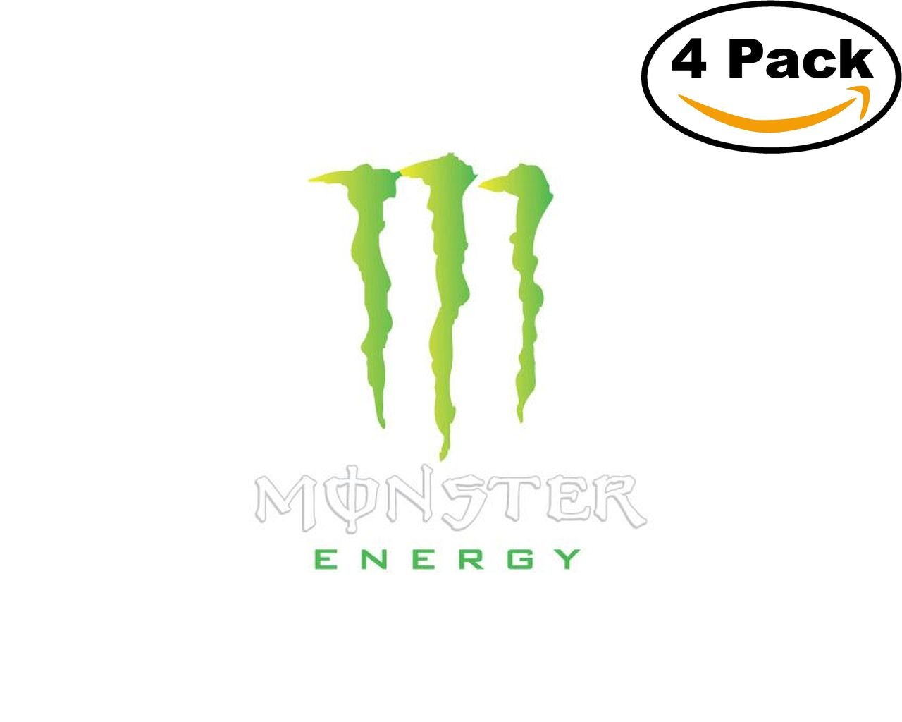 amazon com monster energy logo 4 stickers 4x4 inches car bumper rh amazon com Camo Monster Energy Logo Rockstar Logo