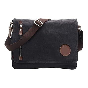 enjoy best price sells better price for Amazon.com | VRIKOO Casual Canvas Satchel Messenger Bag ...