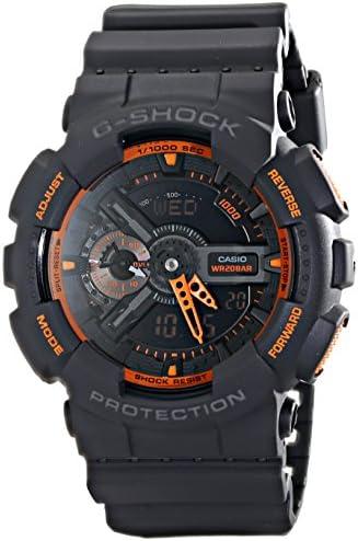 Casio Men s GA-110TS-1A4 G-Shock Analog-Digital Watch With Grey Resin Band