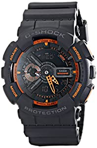 Casio Men's GA-110TS-1A4 G-Shock Analog-Digital Watch With Grey Resin Band