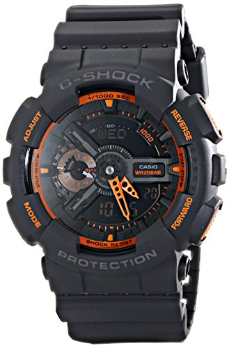 Casio Men's GA-110TS-1A4 G-Shock Analog-Digital Watch With Grey Resin Band ()