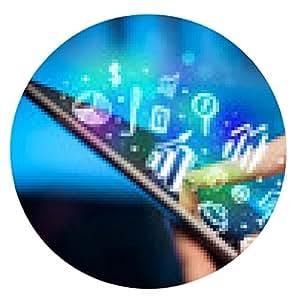 alfombrilla de ratón Mano tocando Tablet PC, el concepto de tablas - ronda - 20cm