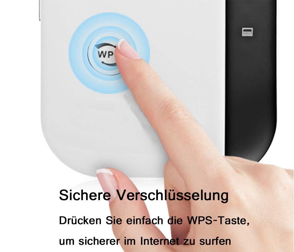 300Mbit//s, WPS Taste Wireless NeConhee WLAN Repeater WiFi Range Extender WiFi Booster Kompatibel mit Allen WLAN Ger/äte -Schwarz Wireless Netz Signal WLAN Verst/ärker Conhee WLAN Repeater