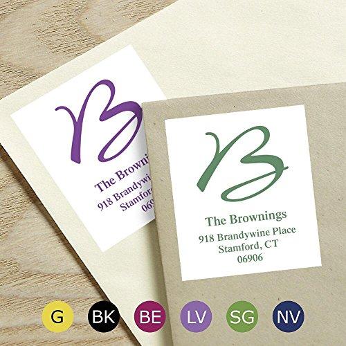 Grand Initial Self-Adhesive, Flat-Sheet Select Address Labels (6 Colors)