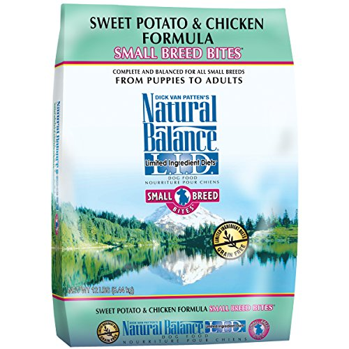 Natural Balance Small Breed Bites L.I.D. Limited Ingredient Diets Dry Dog Food, Grain Free, Sweet Potato & Chicken Formula, 12-Pound (Bug Breed)