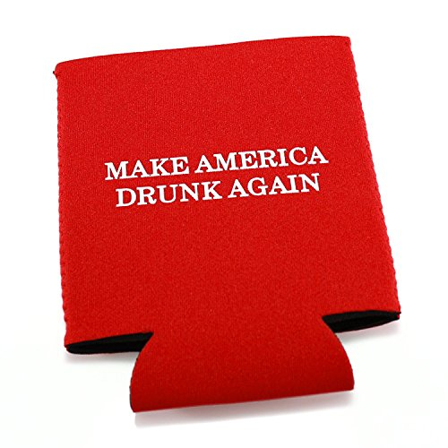 Drumpf.WTF Make America Drunk Again Funny Neoprene Beer and Soda Pop Can Cooler (Funny Coozies For Cans)