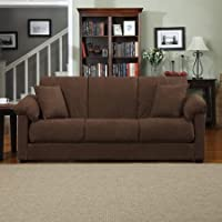 Montero Microfiber Convert-a-Couch Sofa Sleeper Bed (Dark Brown)