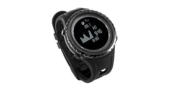 Emperador de Gadgets® Mejor UK Digital Pesca Deportiva reloj con marea, funciones de altímetro y barómetro | Smart impermeable pesca y deportes reloj con 12 ...