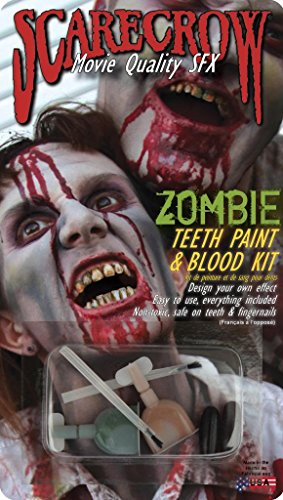 Scarecrow Zombie Teeth Paint and Mouth Blood Kit ()