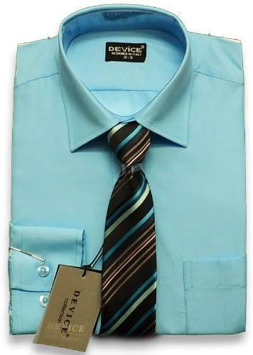 SIRRI PAJES Azul Aqua Camisa Formal Y Set Corbata Traje DE ...