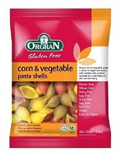 (2 Pack) - Orgran - Corn & Vegetable Shells | 250g | 2 PACK BUNDLE